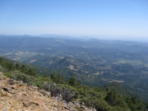 Mt St Helena view from North peak