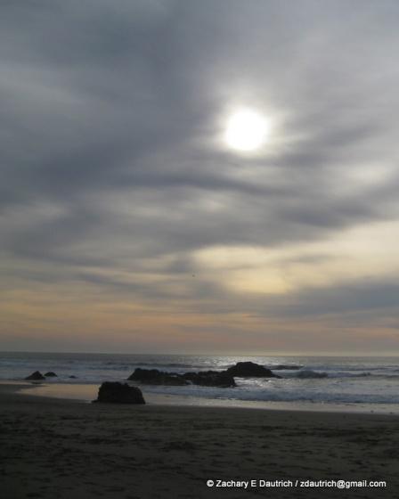 late afternoon sun n surf / Pt Reyes National Seashore Jan 2012