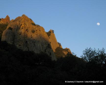 sandstone cliffs of pine canyon / Mt Diablo CA