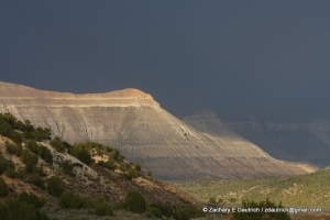 storm and mesas at sunset / western CO