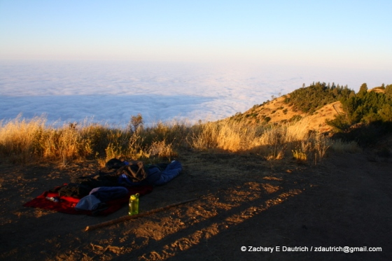 sky camp above the clouds 02 / Los Padres Nat Forest CA