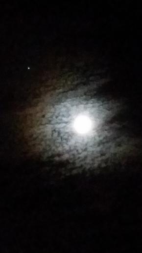jupiter by almost full moon Jan 7 2015