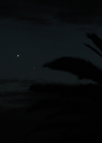 venus and mercury within 1 degree of each other Jan 10 2015
